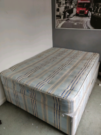 Free double bed with mattress not very clean (garage dirt)