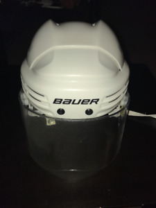 used once Bauer helmet and visor
