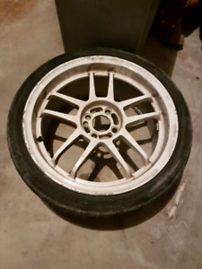 """selling a set of 4 17"""" rims with 205/40zr17 tires 180$$ obo"""