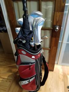 Set de bâtons de golf femme droitière incluant sac de golf