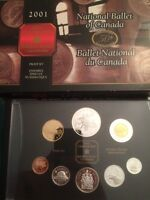 2001 RCM proof set national ballet of Canada coins silver