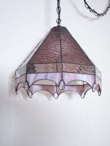 Hand-crafted Hanging stained glass Lamp