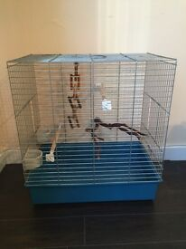 Large bird cage 26 x 15 inches love bird budgie finch