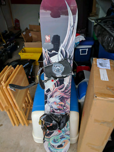 """LTD Avenger Series 59"""" Snowboard and boots size 9.5"""