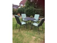 Garden Furniture - Table and Chairs (cushions included)