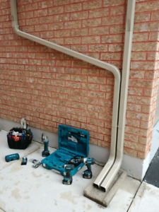 Gutter cleaning, repairs, Downspout installation