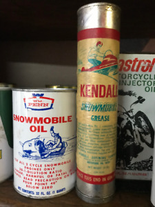 Snowmobile Vintage Cans
