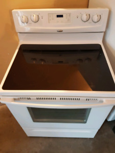 White and black stove