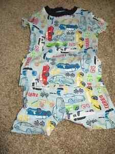 3 pairs boys size 3 short pajamas