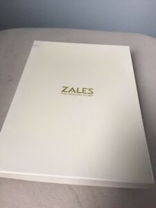 Zales genuine fresheater pearl/gold set