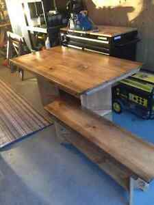 Table and benches,,,picnic style