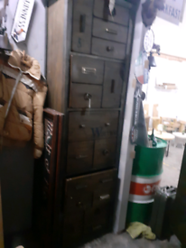 Industrial style wall unit storage vintage retro