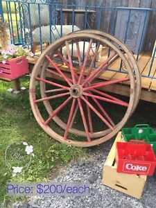 Antique Old Wagon Wheels