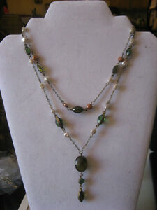 Beautiful double strand beaded necklace