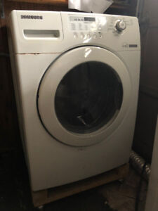 SAMSUNG Washer and Dryer duo for sale (white) (AS IS)