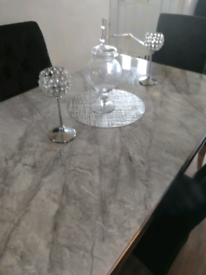 Marble table with 4 knocker chairs