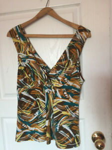 Women's multicolored sleeveless top
