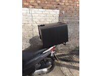 pizza box fitted on any motorcycle motorbike from 40 pounds