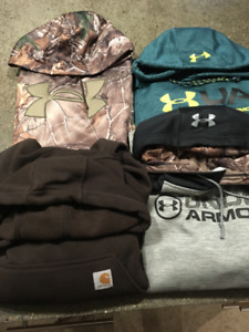Under Armour and Carhartt Hoodies