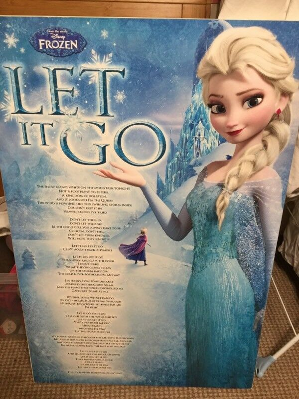 Lyric frozen let it go lyrics : Frozen let it go lyrics poster in frame | in Poole, Dorset | Gumtree