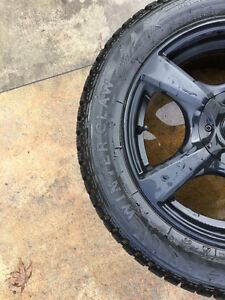 4-High Performance Studded Snow Tires W/Touren Rims North Shore Greater Vancouver Area image 6