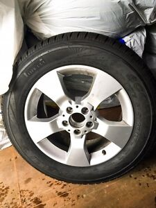 """17"""" Snow Tires mounted on Mercedes-Benz GLK Rims"""