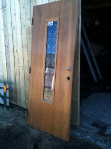Solid oak exterior door