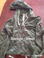 Green suede jacket from Garage