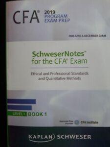 CFA 2019 LEVEL 1 Kaplan Schweser Books in Excellent Condition.