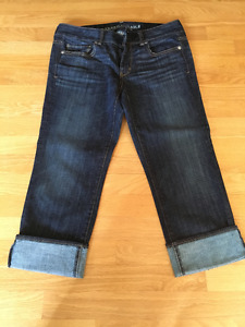 american eagle jeans and capris size 8