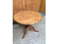 Lancashire pine round table