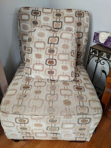 2 sofa chairs, bought from The Brick, with cushion