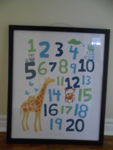 Number poster with Frame - Bradford, ON