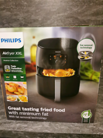 Phillips XXL airfryer with fat removal technology, black 1.4litres