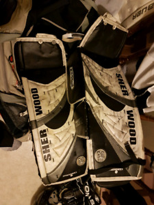 Sherwood goalie pads