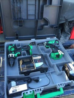 HITACHI 2 Pc Cordless Impact Driver Drill 18v Li-Ion Brunswick East Moreland Area Preview
