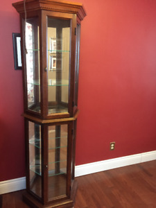 Corner Cabinet - Glass doors