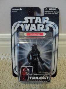 Star Wars Trilogy Tie Fighter Pilot with Base *NEW IN BOX*