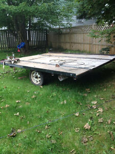 Double tilt snowmobile trailer!!