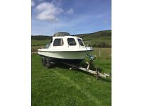 17ft fishing boat with 40hp outboard
