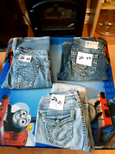 Ladies silver jeans for sale