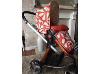 Cosatto giggle pushchair in splash stunning pushchair light weight seat goes both ways
