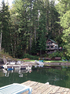 Waterfront Lakefront Cabin Off the Grid Solar/Generator Power