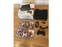 160gb SLIM PS3 CONSOLE with 8 GAMES £70 no offers (PlayStation 3)