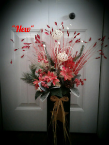 Christmas  Floral Arrangement (32 inches tall )
