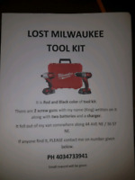 Lost my Milwaukee tool box
