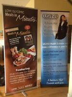 Retractable banner stands for sale