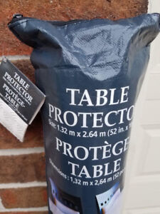 "BRAND NEW CUT TO FIT VINYL TABLE PROTECTOR 1.32mx2.64m(53""x102"")"