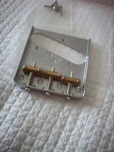 Fender telecaster bridge vintage style brass saddles Windsor Region Ontario image 2
