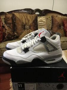 Air Jordan 2016 White Cement 4s Size 11